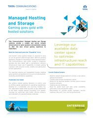 Managed Hosting and Storage - Tata Communications