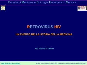 RETROVIRUS HIV - Sezione di Microbiologia
