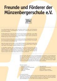Freunde und Förderer der Münzenbergerschule eV - Lars Baum