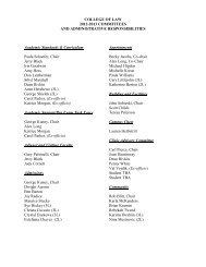 COLLEGE OF LAW 2012-2013 COMMITTEES AND ...