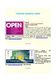 TEATRO AGOSTO 2008 - Comune di Napoli