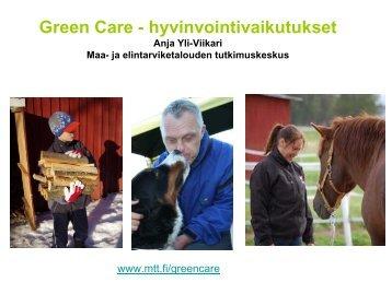 Yli-Viikari Anja Green care (pdf) (1016.2 KB) - Maaseutupolitiikka