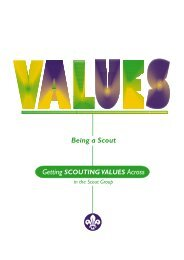Getting Scouting values across in the Scout Group