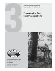 Protecting Old Trees from Prescribed Fire - ERI Library - Northern ...