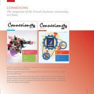 The magazine of the French business community in China ... - ccifc