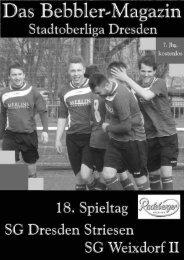 Das Bebbler-Magazin - 18. Spieltag
