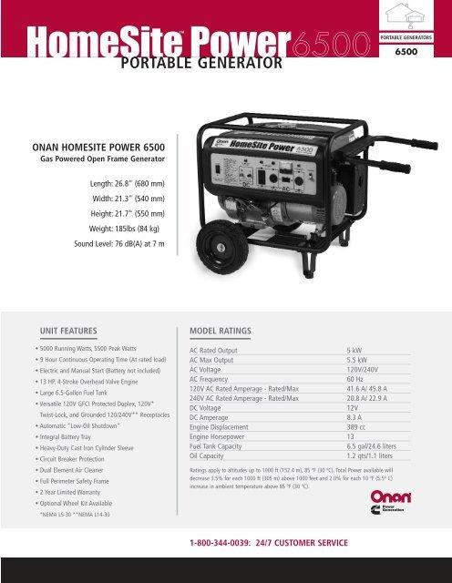 [DIAGRAM_3US]  View HomeSite Power 6500 Manual - Electric Generators | Onan Homesite 6500 Generator Wiring Diagram |  | Yumpu