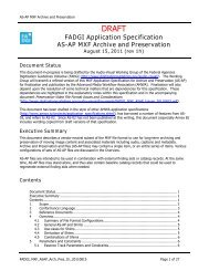 MXF Application Specification for Archiving and Preservation (v. 1h)