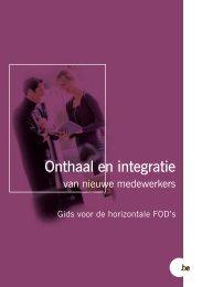 Onthaal en integratie van nieuwe medewerkers (PDF ... - Fedweb