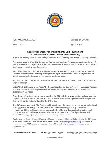 Registration Opens for Annual Charity Golf Tournament at ...