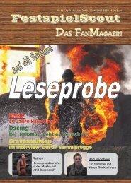 Leseprobe zur Ausgabe Nr. 11. - FestspielScout.de