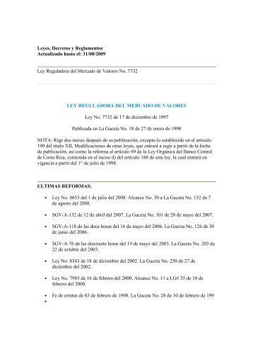 Leyes, Decretos y Reglamentos Actualizado hasta el: 31 ... - Felaban