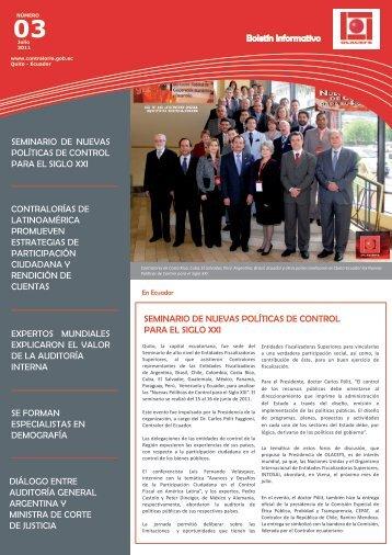 Boletín Informativo OLACEFS N°3