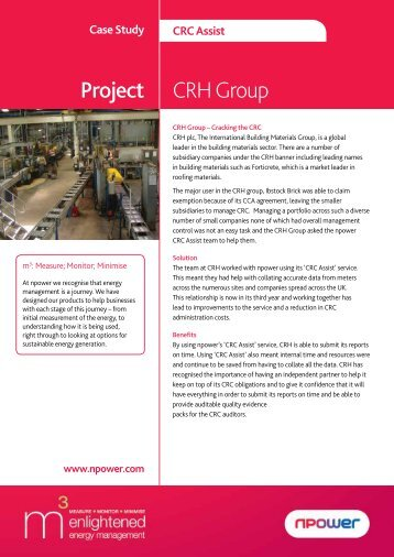 Project CRH Group - Npower
