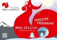 Wintersemesterprogramm 2013/14 - ESG