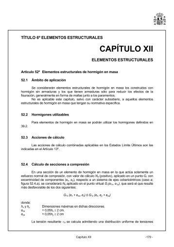 Capítulo XII. Elementos estructurales