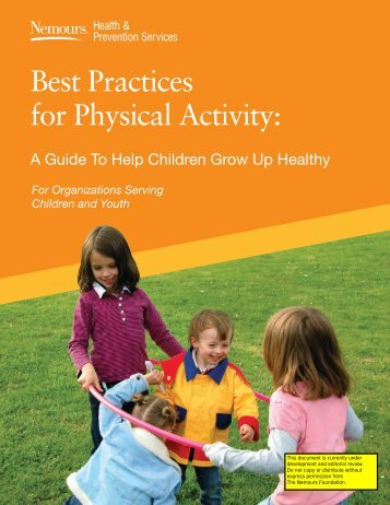 Best Practices for Physical Activity: - Nemours