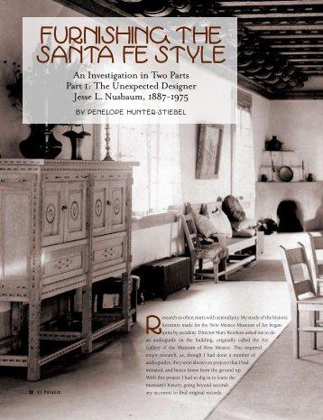 Furnishing the Santa Fe Style - El Palacio Magazine