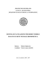 sistema di navigazione per robot mobile basato su rete neurale ...