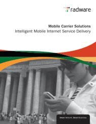 Mobile Carrier Solutions Intelligent Mobile Internet Service Delivery