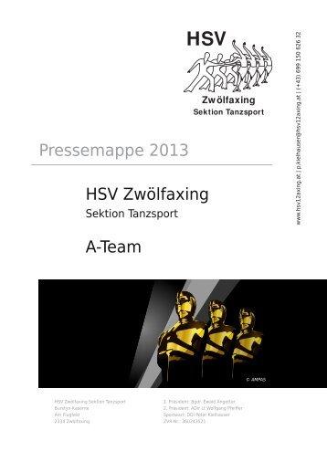 A-Team HSV Zwölfaxing Pressemappe 2013
