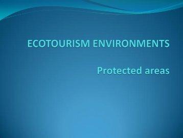 EMERGENCE OF ECOTOURISM - LUMENS