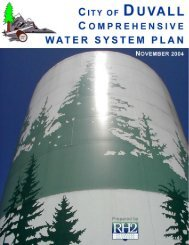 Comprehensive Water System Plan - City of Duvall