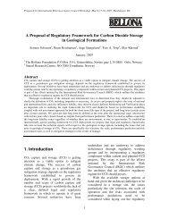 A Proposal of Regulatory Framework for Carbon Dioxide ... - IRGC