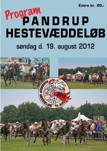 Hestevæddeløb i Pandrup 19. august program - Skive Trav