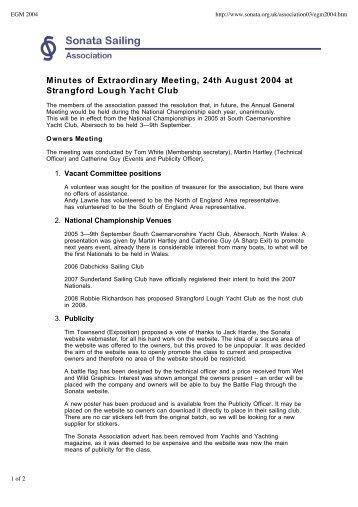 Minutes of EGM held 24 August 2004 (pdf) - Sonata Sailing