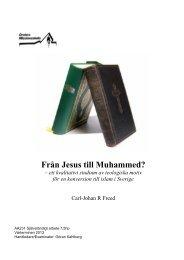 Uppsats Carl-Johan Freed Från Jesus till Muhammed - Ett nytt Sverige