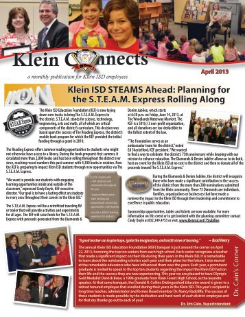 April 2013 - Klein Independent School District