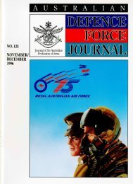 ISSUE 121 : Nov/Dec - 1996 - Australian Defence Force Journal