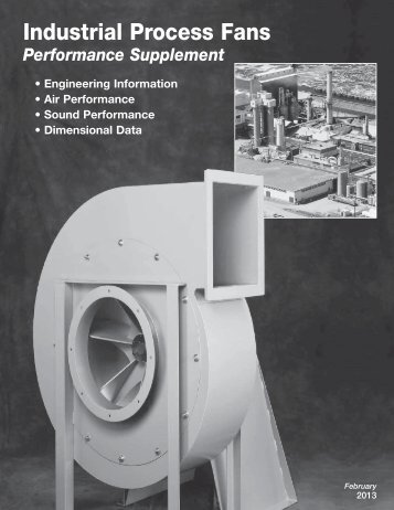 Industrial Process Fans Catalog Supplement - Greenheck