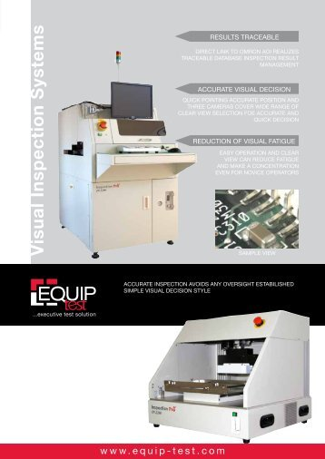 Visual Inspection Systems - Equip-Test