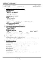 EG-Sicherheitsdatenblatt Waschen ohne Wasser - Wendisch-PS