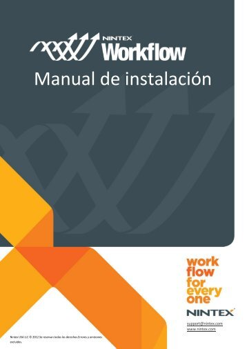 Manual de instalación de Nintex Workflow 2010