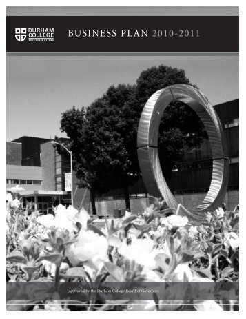 Business Plan 2010-2011 [PDF - 2 MB] - Durham College