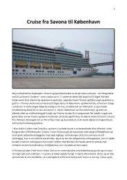 Cruise fra Savona til København