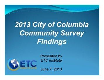 ETC Council Presentation - City of Columbia, Missouri