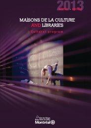 Cultural Program - Winter/Spring 2013 - Ville de Montréal