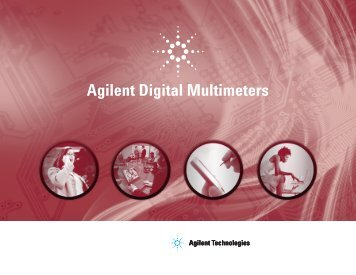Agilent Digital Multimeters Catalog - MetricTest