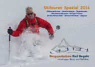 Skitouren Spezial 2014