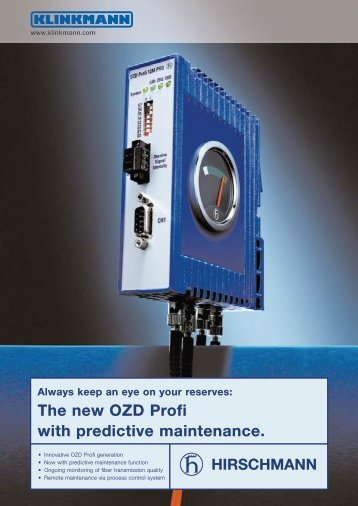 The new OZD Profi with predictive maintenance. - Klinkmann.