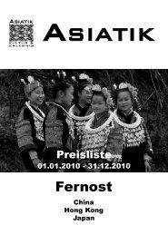 Preisliste Fernost 2009.qxd - Asiatik