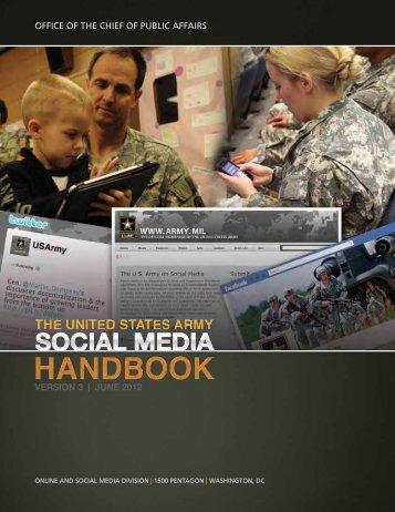 Army Social Media Handbook - Fort Hood Press Center