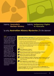 by using Australian History Mysteries 2 in the classroom