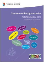 folkehelsemelding Porsgrunn - Porsgrunn Kommune