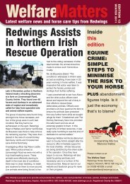 Welfare Matters Edition 13:Spring Newsletter 2010 - Redwings