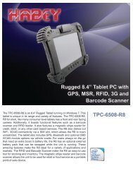 "TPC-6508-R8 Rugged 8.4"" Tablet PC with GPS, MSR ... - Habey USA"